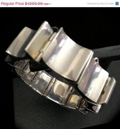 Iconic Antonio Pineda Sterling Silver Modernist Bracelet