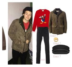 """""""Harry style"""" by veronice-lopez on Polyvore featuring Gucci, Yves Saint Laurent, Jennifer Zeuner, men's fashion and menswear"""