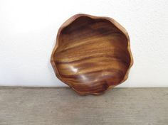 Vintage Wood Bowl / Boho Wood Bowl / Monkey Pod by ZenDenVintage