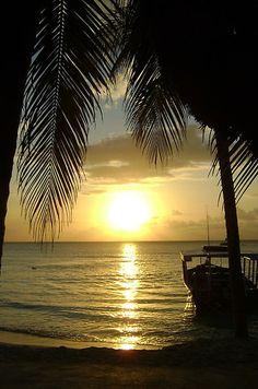 Sunset at 7 Mile Beach at Negril, Jamaica #CheapCaribbean #CCBucketList