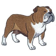 Dakota Collectibles Embroidery Design: Bulldog 2.50 inches H x 2.93 inches W
