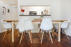 The NORDEN extendable table is from IKEA, and provides extra space for the couple to entertain.