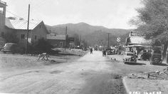 Gatlinburg 1938 - Looking south on U. on left - Baskins Creek Church on left, Ogle's Store ahead on right. Tennessee Smokies, Chattanooga Tennessee, East Tennessee, Gatlinburg Vacation, Gatlinburg Cabins, Nc Mountains, Great Smoky Mountains, Cades Cove, Back Road