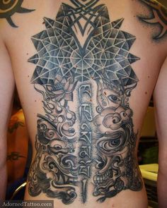 Tibetan back tattoo