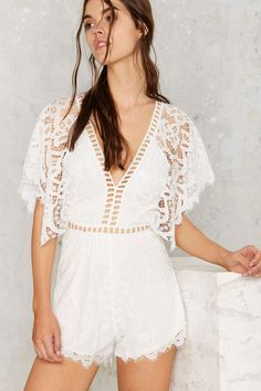 Love Ladder Lace Romper   Shop Clothes at Nasty Gal!