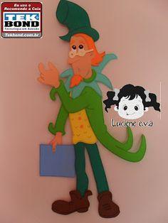 Luciene e.v.a: Personagens do sítio: Emília e Visconde com molde