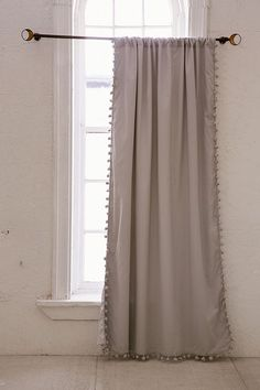 Slide View: 2: Blackout Pompom Curtain
