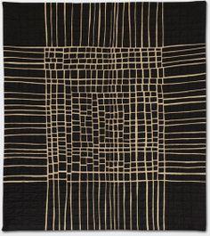 """Kathleen Loomis, 2007, """"Crossroads 1,"""" fine lines quilt"""