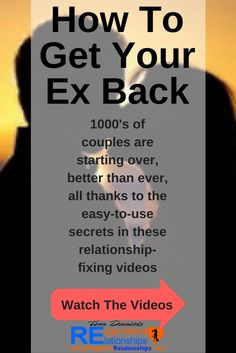 Take a look at videos for how to get your ex back - dating and relationship breakup advice, and click the pic to watch the free youtube videos, or here: https://www.youtube.com/user/ExBackSecretFormula
