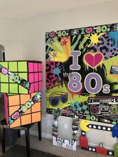 Elegant Party Decorations, 80s Decorations, 80s Shows, S Brick, 80s Party, Australian Art, Retro Home Decor, Photo Booth Props