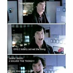 Image uploaded by t e d d i e. Find images and videos about benedict cumberbatch, sherlock holmes and bbc sherlock on We Heart It - the app to get lost in what you love. Sherlock John, Sherlock Holmes, Sherlock Bbc Funny, Sherlock Fandom, Watson Sherlock, Jim Moriarty, Sherlock Quotes, Sherlock Humor, Martin Freeman