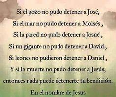 Nada detiene a Dios
