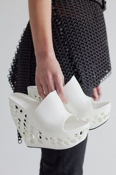 3D printed shoes. Technology and fashion #http://www.mylocal3dprinting.com #3dprinting