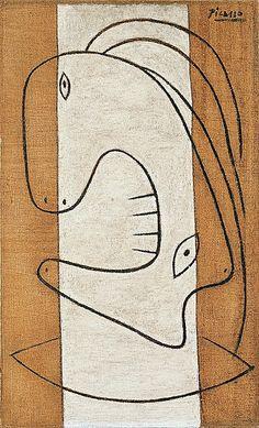 "1927.- ""Cabeza de una mujer /Head of a Woman"". PABLO PICASSO."