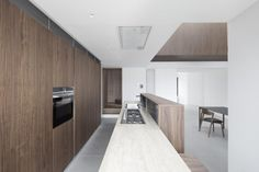 Studio DiDeA reconfigures a two levels penthouse in Palermo to create a luminous and spacious house, overlooking the city harbor.The 180 smq. Palermo, Studio, Loft Interior Design, Space Saving Furniture, Beautiful Kitchens, Home Kitchens, Wooden Kitchens, Decoration, House Design