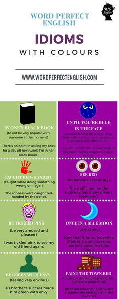 Idioms with COLORS #learnenglish