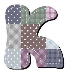 Buchstabe / Letter - K (Patchwork / Quilt)