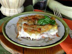 Parmigiana di Fiori di zucchina con mozzarella filante