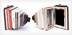 DIY Large Format Camera Created From Photography Books  http://www.ecofriend.com/artists-create-quirky-camera-photography-books.html#