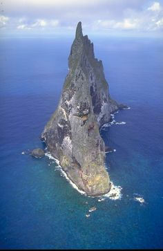 Ball's Pyramid. It is 562 metres (1,844 ft) high, while measuring only 1,100 metres (3,600 ft) in length and 300 metres (980 ft) across, making it the tallest volcanic stack in the world. Ball's Pyramid is part of the Lord Howe Island Marine Park. Photographer: S D Miller/Nature Focus. Rights: Australian Museum.