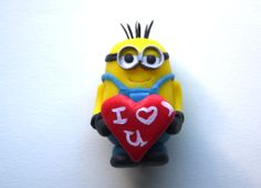 Minion made with cold porcelain