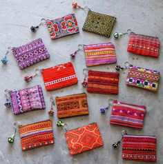 Mini Hmong Purse/Coin Bag/ Accessories/ Ethnic/ Embroidery/Colorful/Tribal/whole sale on Etsy, $5.00