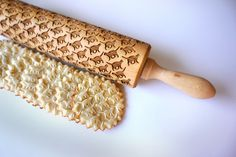 Engraved rolling pin - Cat pattern