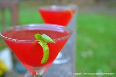 Ginger, pomegranate and basil gimlet., a recipe on Food52