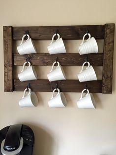 DIY Coffee Mug Display