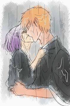 Bleach - Ichigo Kurosaki x Rukia Kuchiki - IchiRuki Bleach Ichigo And Rukia, Ichigo X Orihime, Bleach Anime, Otaku Anime, Manga Anime, Anime Art, Bleach Couples, Bleach Fanart, Shinigami