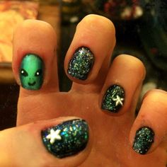 52 Best Alien Nail Art Images On Pinterest In 2018 Alien Nails My