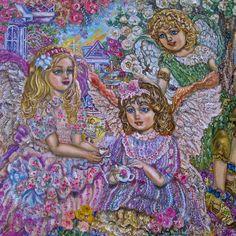 Glasbilder 307-00120FG Yumi Sugai Teezeit der Engel
