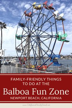 The Balboa Fun Zone in Newport Beach, California is a retro amusement park on the waterfront with lots of fun attractions for kids and adults! #balboa #newportbeach #california Amusement Parks In California, California Attractions, Kids Attractions, California Destinations, California Travel, Travel Destinations, California With Kids, Southern California, Family Road Trips