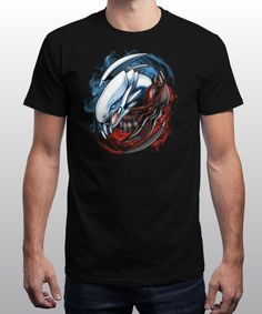 """""""Yu-Yin-Yang-Oh!"""" is today's £9/€11/$12 tee for 24 hours only on www.Qwertee.com Pin this for a chance to win a FREE TEE this weekend. Follow us on pinterest.com/qwertee for a second! Thanks:)"""