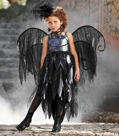 scary fairy girls costume - From the dark side of the fairy world comes this evil sprite.