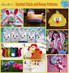 10 Free Crochet Chick and Bunny Patterns