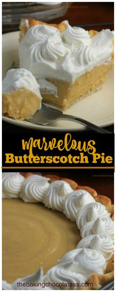 Marvelous Old Fashioned Butterscotch Pie via @https://www.pinterest.com/BaknChocolaTess/