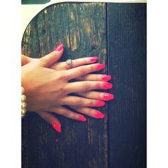 Flash pink nails