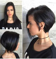 The best collection of Cute Short Bob Haircuts, Latest and best Short bob hairstyles, haircuts, hairstyle trends 2018 year. Short Hair Cuts For Women, Short Hairstyles For Women, Short Hair Styles, Everyday Hairstyles, Short Bob Haircuts, Short Haircut, Haircut Bob, Short Asymmetrical Haircut, Asymmetric Bob