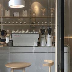 cafe coffee interior scenery lifestyle table style light beige latte milk tea dessert cream pastel korean japanese minimalistic clothing people natural pretty aesthetic grunge ethereal r o s i e Coffee Shop Aesthetic, Cream Aesthetic, Brown Aesthetic, Aesthetic Grunge, Aesthetic Food, Cafe Interior, Interior Design, Korean Cafe, Cafe Shop