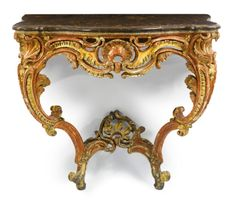 Punctual Solid Mahogany French Chateau Style Antique White Carved Console Hall Table Antique Furniture