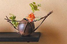 Wood Gallery ITSUKI   Rakuten Global Market: Vase pottery pottery pottery Japanese gift flower arrangement ikebana accessory flower store flowers Shin Raku vase vase vase Interior Asian sale cheap gift gifts housewarming Shigaraki ware opening celebration for aged day mother's day father's day two-