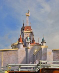 Beauty and the Beast castle coming to Disney World so so soon! WHAT!?! I'll be going there the day it opens!!