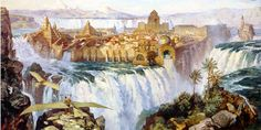 i used to stare at this picture for hours as a kid. dinotopia