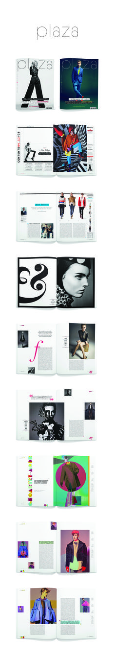Plaza Masthead magazine layout