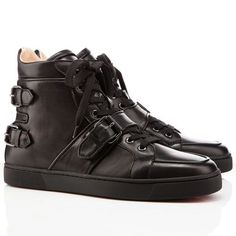 #Highheels#Fashion Christian Louboutin Spacer High Top Sneakers Black. The world's premier online luxury fashion destination.