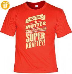 T-Shirt als Geschenk - Ich bin Mutter was sind deine Superkräfte - lustiges Funshirt für die Mama Geburtstag Muttertag, Größe:XL (*Partner-Link)