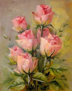 Flower oil paintinghand painted original by Paintingandthecity, $145.00