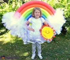 DIY Rainbow Costume - 2016 Halloween Costume Contest More