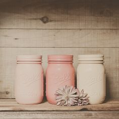 Pastel Painted mason jars. Colored jars. by StyleJarsandCans, $26.00